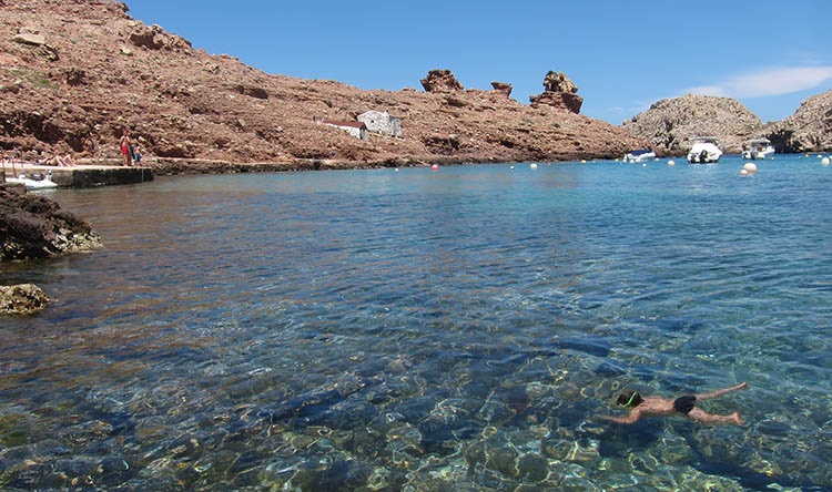 Snorkeling in Cala Morell beach | Discovering Menorca